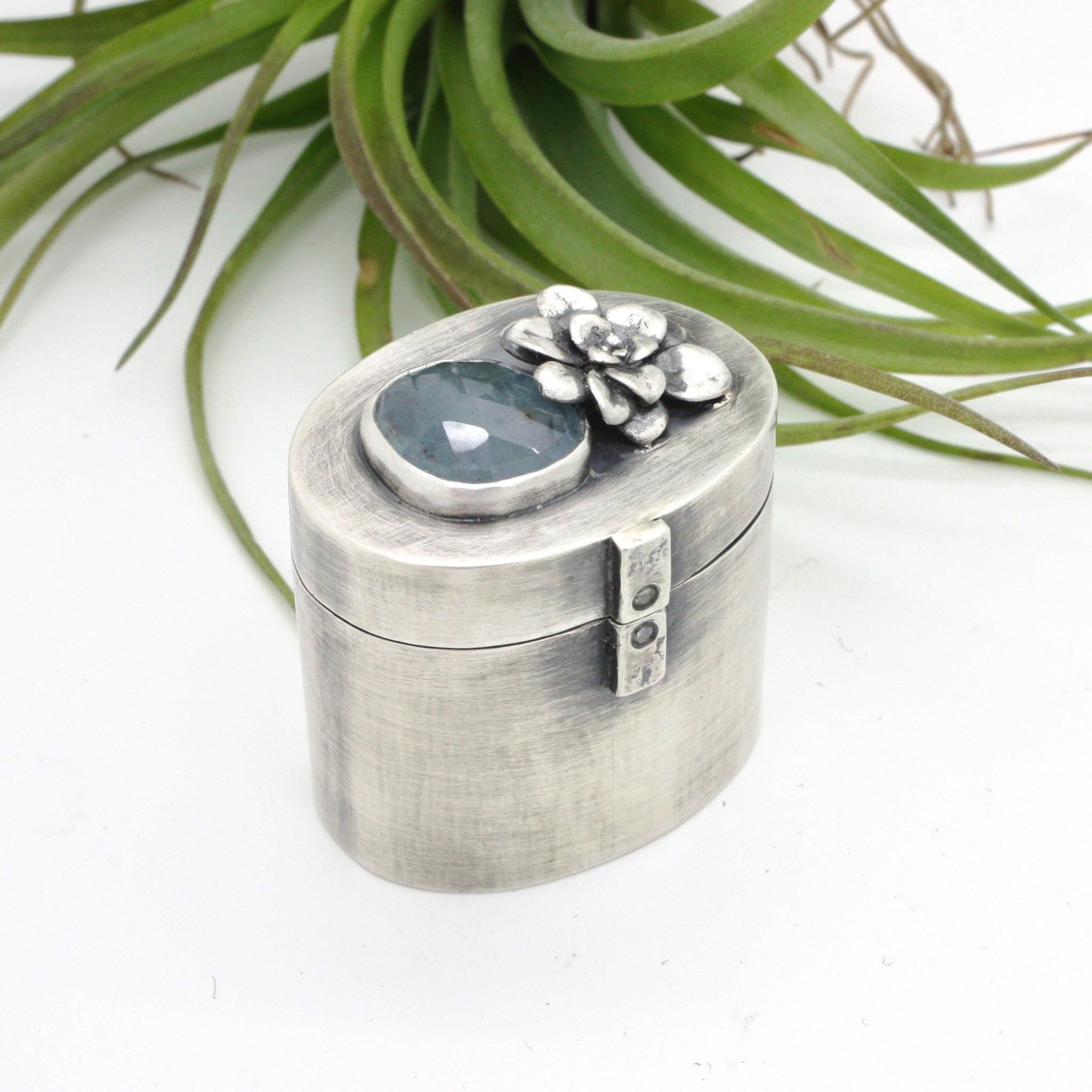 Box No. 1 | Aquamarine and Succulent Ring Box
