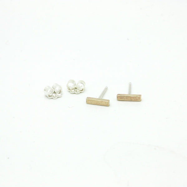Little Golden Bar Studs