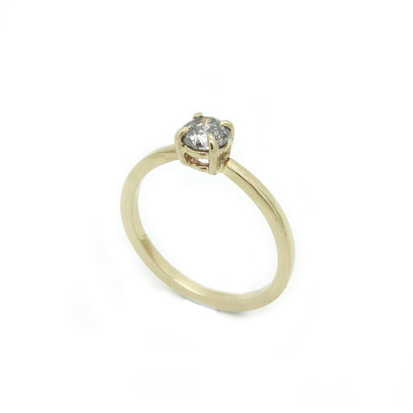 Salt & Pepper Diamond Ring | Size 7