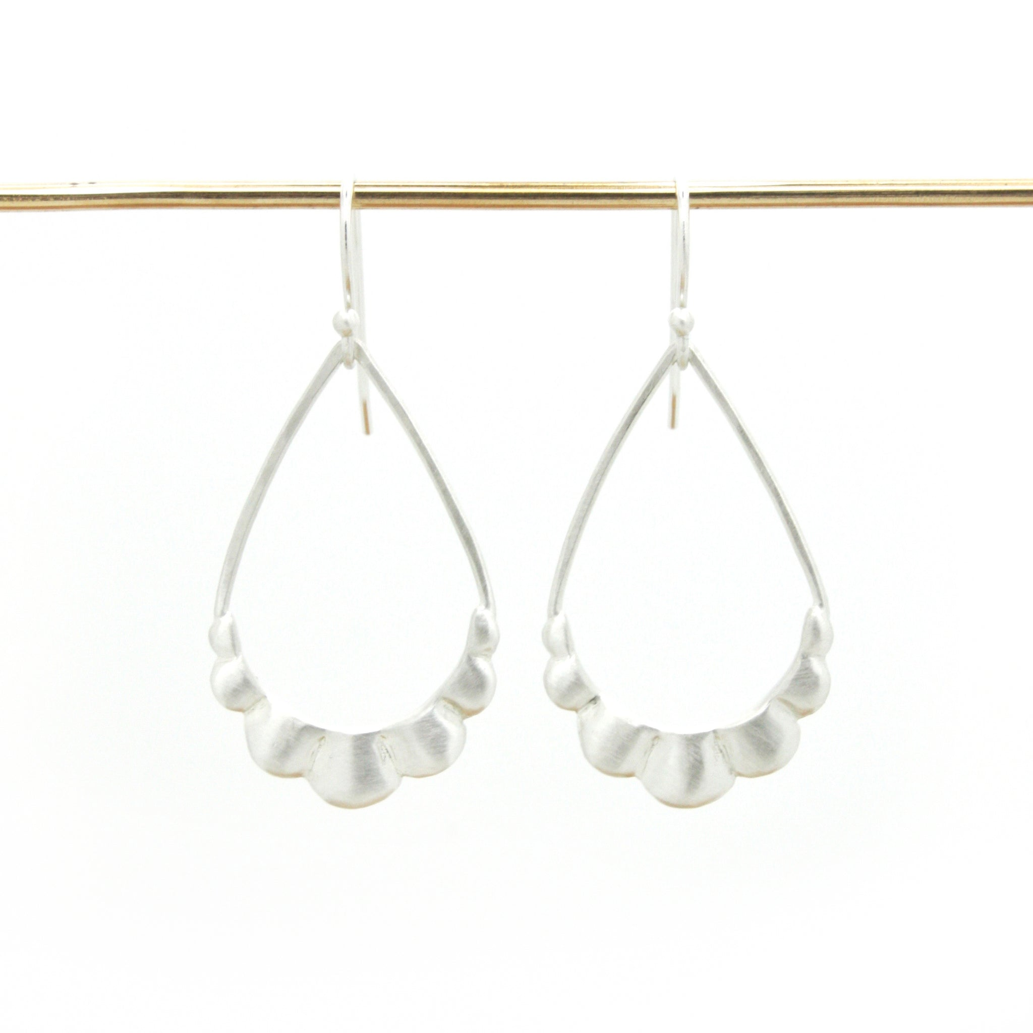 Scallop Earrings | Bright Silver