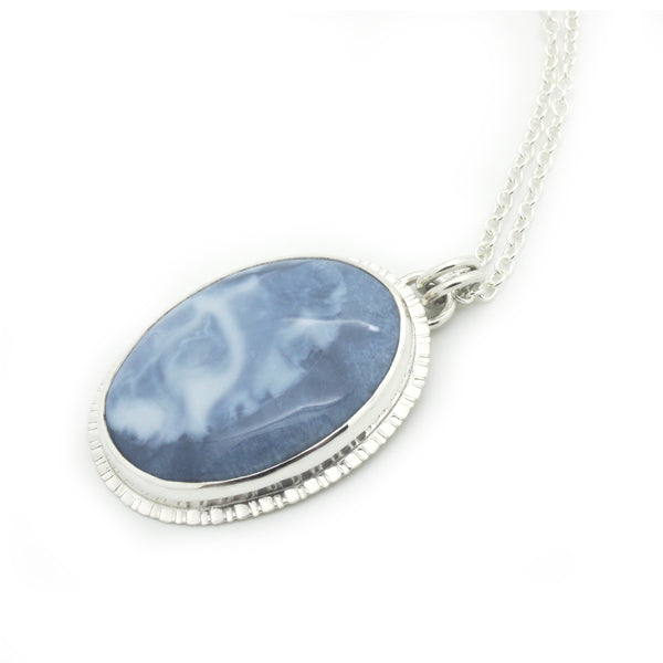 Blue Opal Ocean Swell Necklace