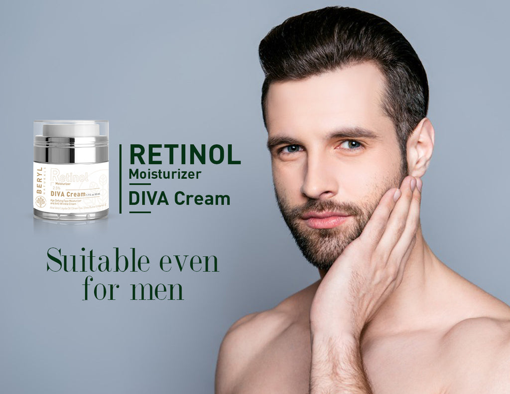 Retinol Moisturizer for Men - Beryl Naturals