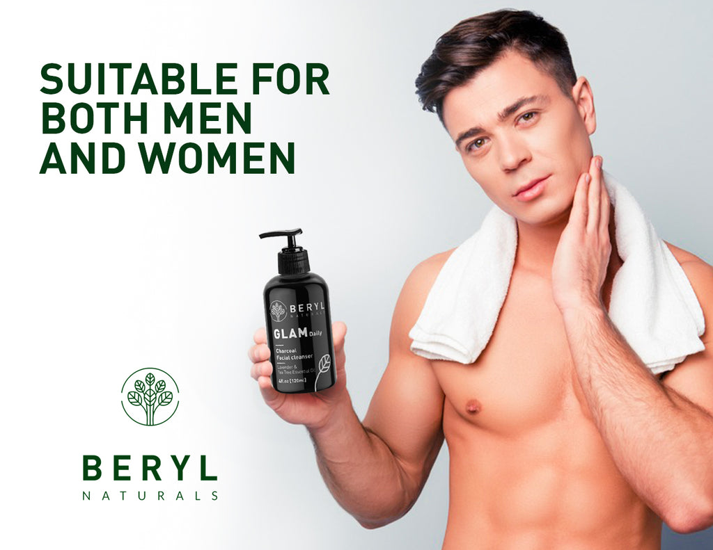 GLAM Daily Charcoal Cleanser Men - Beryl Naturals