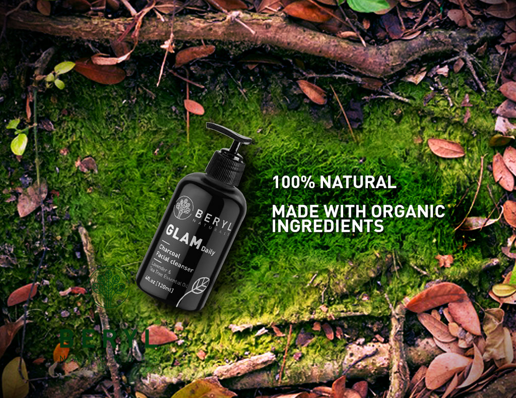 Organic Charcoal Cleanser - Beryl Naturals