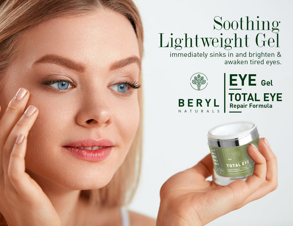Soothing light weight eye repair gel | Beryl Naturals