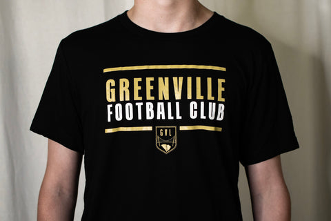 GREENVILLE FOOTBALL CLUB - TEE - BLACK
