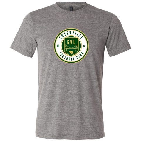 GVLFC CIRCLE CREST TEE - HEATHER GREY