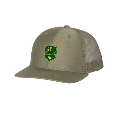 GVLFC CREST HAT - MESH - MILITARY GREEN
