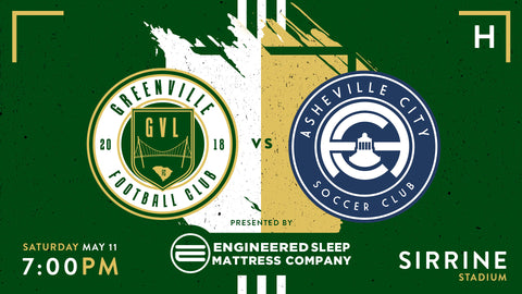 Greenville FC vs Asheville City SC | May 11th, at 7pm