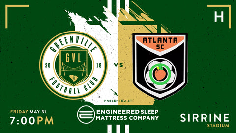 Greenville FC vs Atlanta SC | May 31st, at 7pm