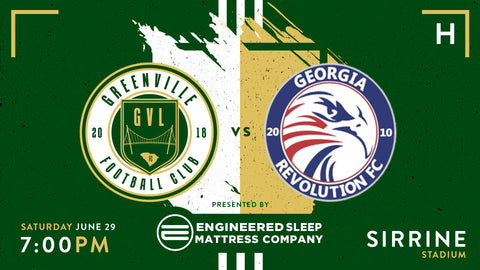 Greenville FC vs Georgia Revolution FC | June 29th, at 7pm