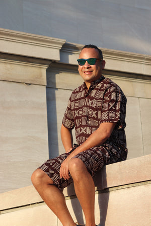 Men's Tribal shirt and shorts