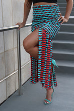 Load image into Gallery viewer, Turquoise fringe skirt