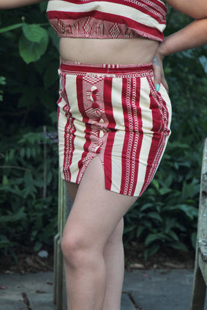 Mini  skirt beige et rouge