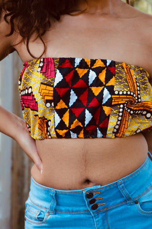 Multi rouge bandeau top