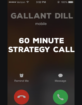 HIRE GALLANT - 60 MINUTE STRATEGY SESSION CALL