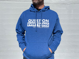New: Question Everything Midweight Royal Blue Hoodie Limited