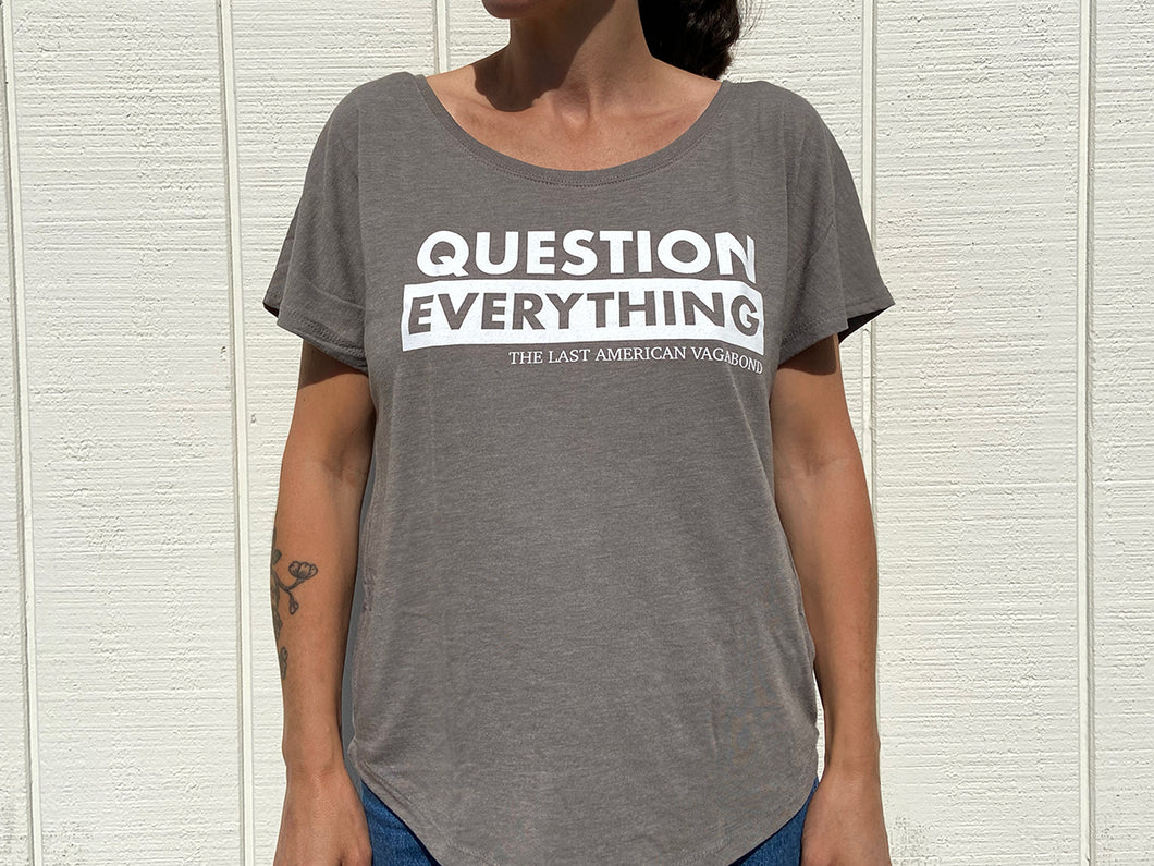 Question Everything Slouchy Khaki