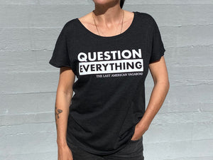 New: Question Everything Slouchy Vintage Black