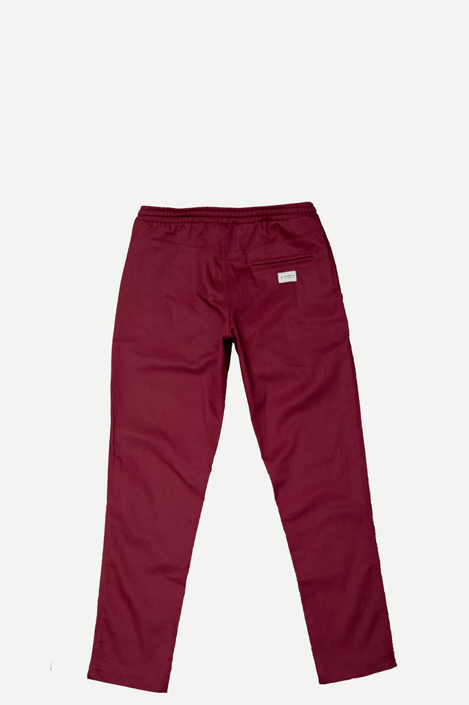 WALKER PANT | OXBLOOD BULL DENIM