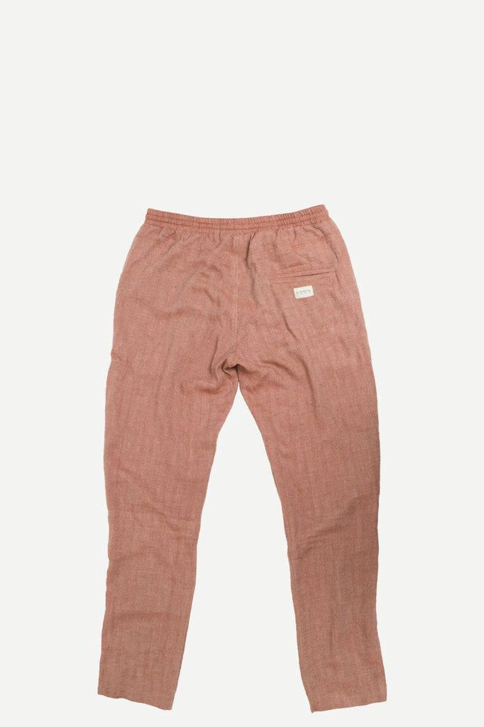 WALKER PANT | RUST HERRINGBONE