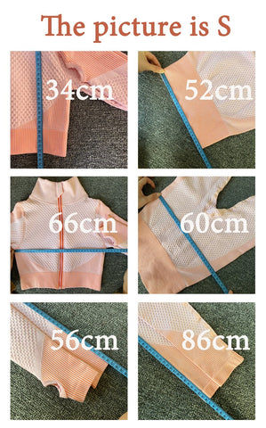 suit with measures in cm