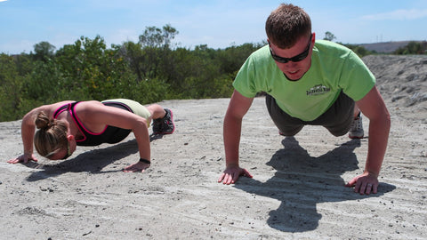 people doing pushups