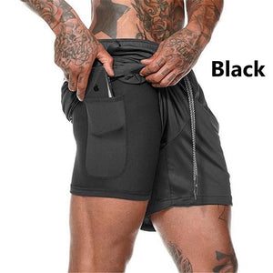 Men's 2-in-1 Workout Running Shorts