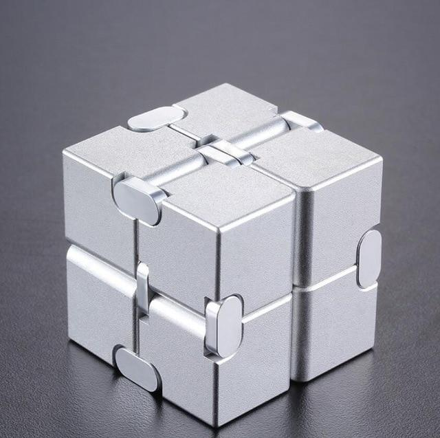 Stress Relief Toy Premium Metal Infinity Cube Portable Decompresses Relax Toys for Children Adults - Go Young!