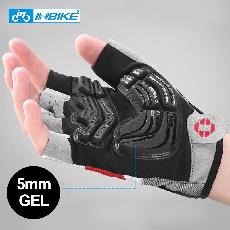 Shockproof GEL Pad Sport Gloves Half Finger Unisex