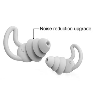 1 Pair Earplugs Protective Ear Plugs Soft Silicone Waterproof Anti-noise Earphones Protector for Travel Sleep and Snoring