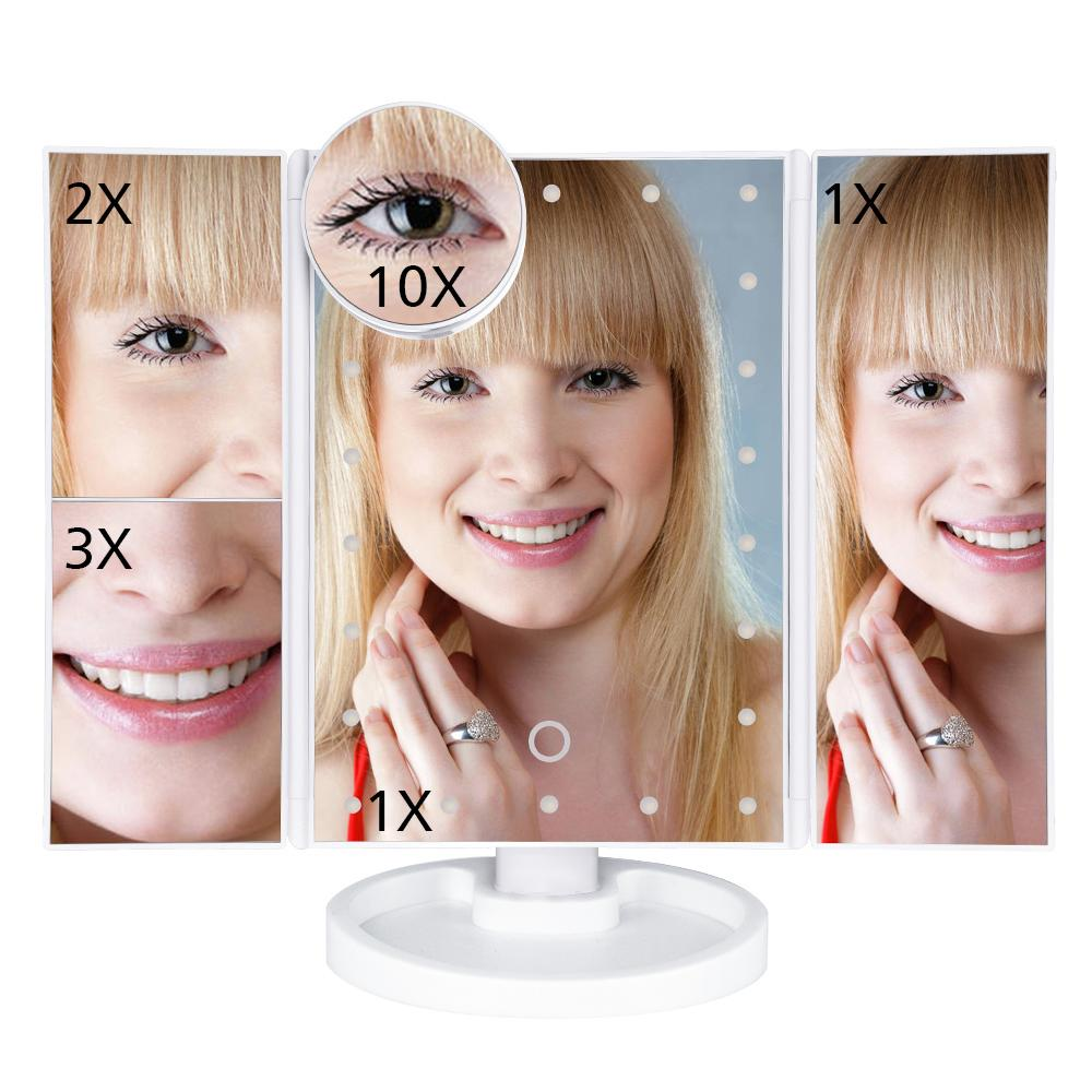 Makeup Mirror With Lights | Adjustable Touch Screen With LED Bulbs