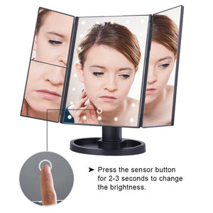 Makeup Mirror With Lights | Adjustable Touch Screen With LED Bulbs - Go Young!