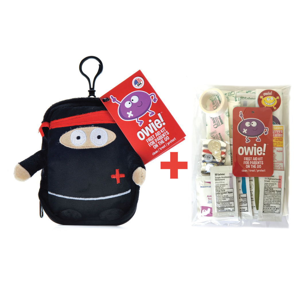 Owie! Ninja Essential First Aid Kit & Refill Kit Bundle - owiefirstaid ,  - First Aid Kit