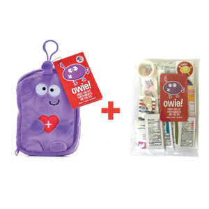 Owie! Essential First Aid Kit & Refill Kit Bundle