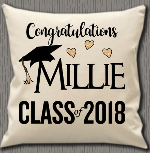 Personalised Cushion Cover~Class Graduation
