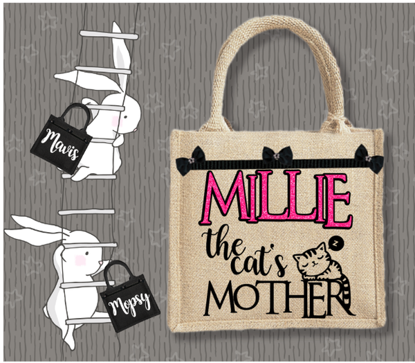 Personalised Jute Bag~The Cat's Mother