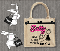 Personalised Jute Bag~ Best Child Minder