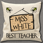 Personalised Cushion Cover~Teacher Sign