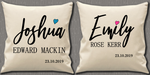 Personalised Cushion Cover~Baby Signature