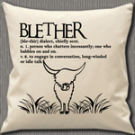 Personalised Cushion Cover~Highland Cow