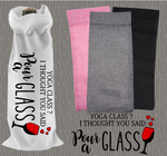 Personalised Jute Wine Bag~Yoga Class