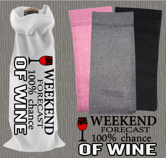 Personalised Jute Wine Bag~Weekend Forecast