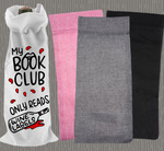 Personalised Jute Wine Bag~Book Club