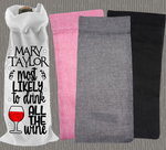 Personalised Jute Wine Bag~Most Likely