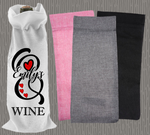 Personalised Jute Wine Bag~Monogram Name