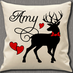 Personalised Cushion Cover~Stag Name