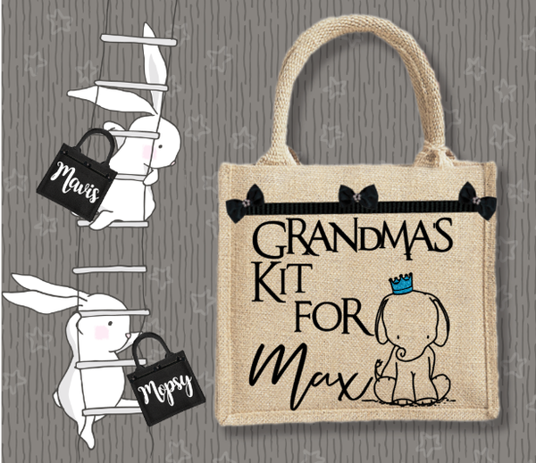 Personalised Jute Bag~Grandma's Kit