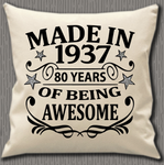 Personalised Cushion Cover~Birthday Made In Year