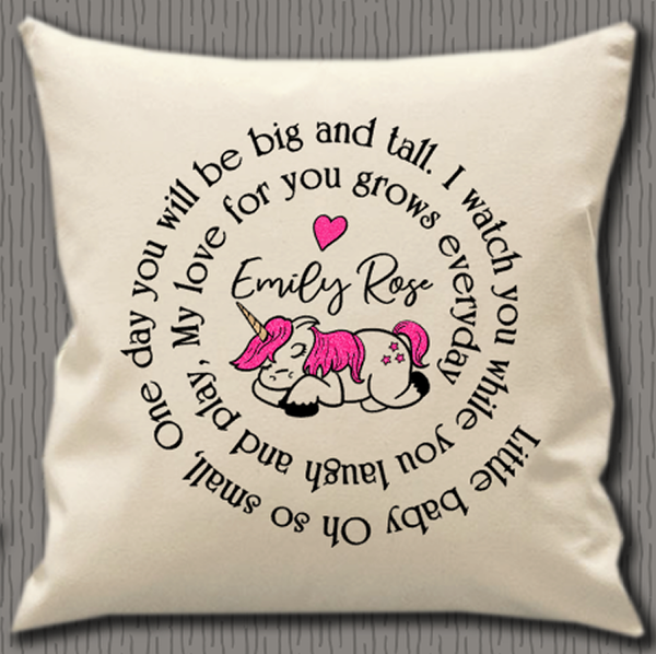 Personalised Cushion Cover~Unicorn Circle Quote